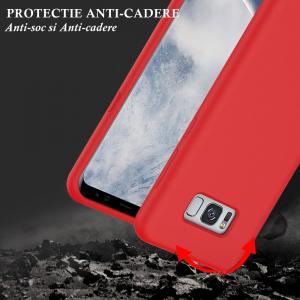 Husa pentru Samsung Galaxy S8 Plus, Red Slim, Liquid Silicone5
