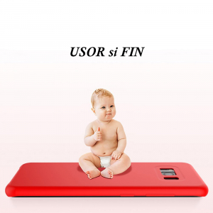 Husa pentru Samsung Galaxy S8 Plus, Red Slim, Liquid Silicone7