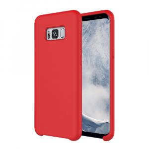Husa pentru Samsung Galaxy S8 Plus, Red Slim, Liquid Silicone0