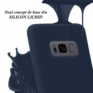 Husa pentru Samsung Galaxy S8 Plus, Blue Slim, Liquid Silicone2