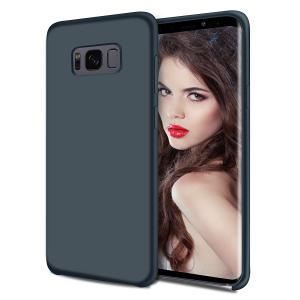 Husa pentru Samsung Galaxy S8 Plus, Blue Slim, Liquid Silicone0