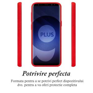 Husa pentru Samsung Galaxy S9 Plus, Red Slim, Liquid Silicone1