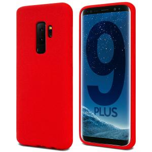 Husa pentru Samsung Galaxy S9 Plus, Red Slim, Liquid Silicone0