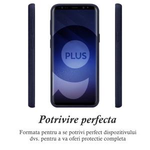 Husa pentru Samsung Galaxy S9 Plus, Blue Slim, Liquid Silicone1
