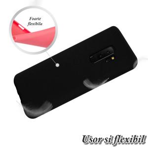 Husa pentru Samsung Galaxy S9 Plus, Black Slim, Liquid Silicone2