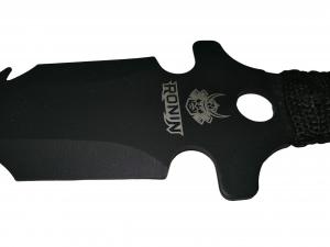 Sabie de vanatoare, Black Ronin, maner textil, 68.5 cm, cutit de aruncat inclus [5]