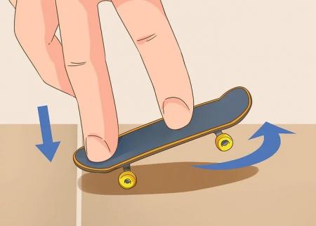 Mini Skateboard, Fingerboard Extreme, 9.5 cm, negru [6]