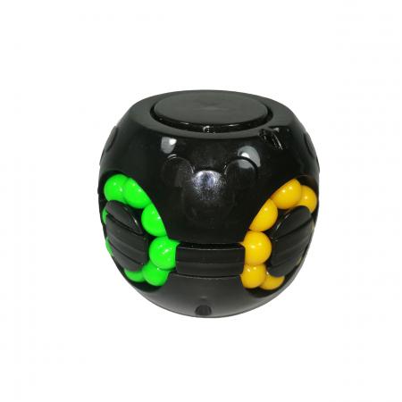 Jucarie antistres, bila Rubik, plastic, negru0