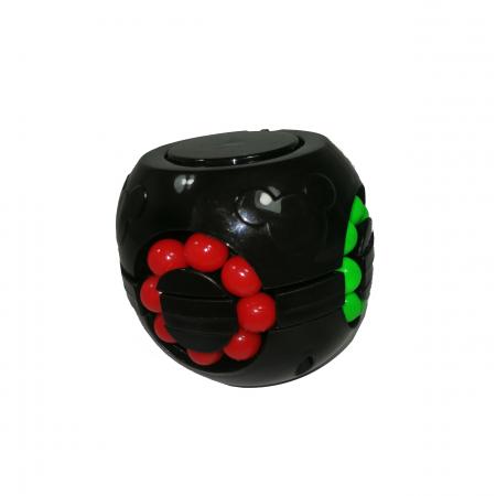 Jucarie antistres, bila Rubik, plastic, negru1