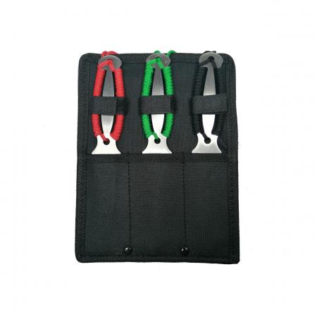 Set trei cutite de aruncat, Three Brothers, multicolor, otel inoxidabil, 18.5 cm5