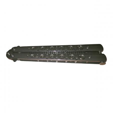 Briceag-fluture, tip pieptan, Silver Stilish, 23.5 cm husa inclusa [5]