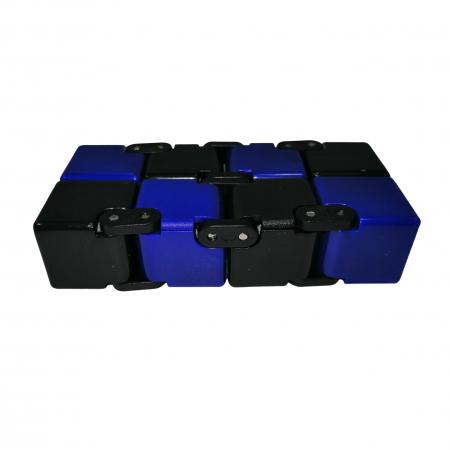 Jucarie antistres, cubul infinitului, 4 cm, plastic, negru-albastru [2]