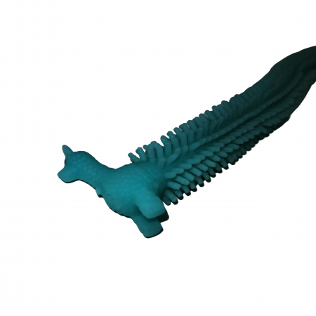 Jucarie senzoriala superelastica, antistres, Gummy Llama, cauciuc, 21 cm, albastru [2]