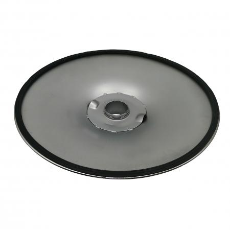 Baza metalica pentru scaun bar, 38 cm, argintie [3]