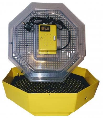 Incubator electric pentru oua, Cleo 5TH, termometru si termohigrometru, galben [1]
