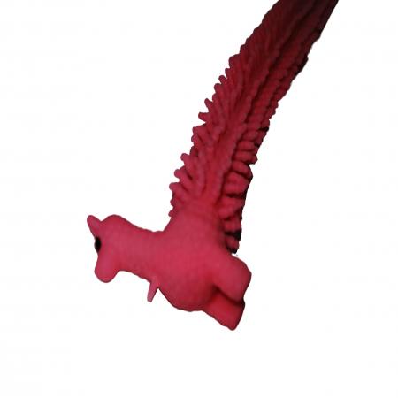 Jucarie antistres, Gummy Llama, cauciuc, 21 cm, roz [2]