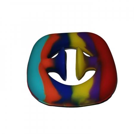 Jucarie antistres senzoriala, cauciuc, 6 cm, multicolor [7]