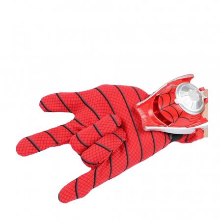 Set costum Spiderman cu muschi si 2 lansatoare, rosu [6]
