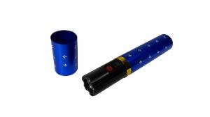 Mini electrosoc in forma de ruj cu lanterna, albastru0