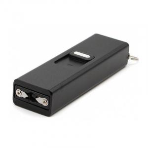Mini electrosoc tip breloc cu lanterna, negru