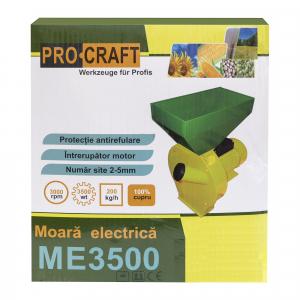 Moara Electrica ProCraft, 3.5 kW, 3000 rpm, 3 site interschimbabile, dispozitiv pentru maruntirea tulpinilor cadou4