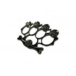 Set baston telescopic negru 50 cm + box,rozeta craniu negru3