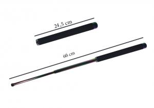 Set baston telescopic 66 cm + box argintiu 1 cm grosime4
