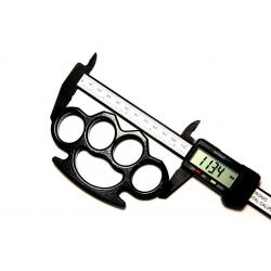 Set baston telescopic flexibil negru maner tip tonfa 47 cm +  box negru 0.5 cm grosime [2]