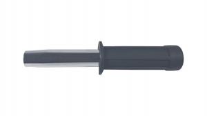 Set baston telescopic flexibil argintiu, maner cauciuc, 47 cm  + box craniu negru2