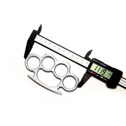 Set baston telescopic flexibil argintiu, maner cauciuc, 47 cm  + box argintiu 1 cm grosime [4]