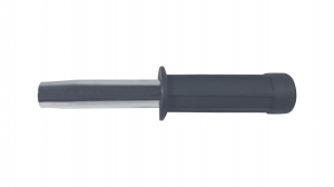 Set baston telescopic flexibil argintiu, maner cauciuc, 47 cm  + pumnal craniu2