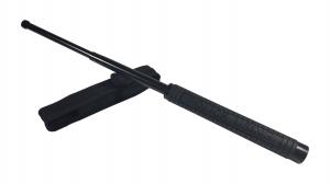 Set baston telescopic Police, 49 cm +  box negru 1 cm grosime1