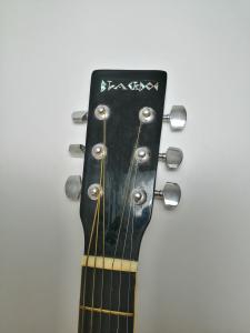 Set chitara clasica din lemn 95 cm, negru clasic, husa nylon si corzi acustice5