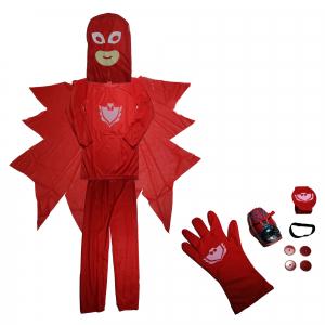 Set costum Eroi in Pijamale - Bufnita - Amaya - marimea S si manusa cu lansator0