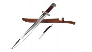 Set Cutit AK pentru camping si vanatoare 43 cm + mini briceag0