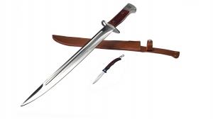 Set Cutit AK, pentru camping si vanatoare 50 cm + mini briceag0