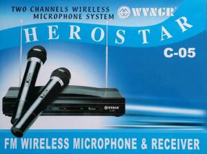 Set microfoane wireless si reciever C-05, cutit spaniol cadou2