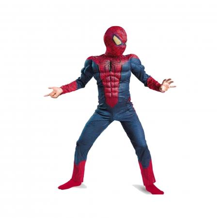 Costum Spiderman cu muschi pentru copii, rosu [1]