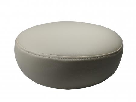 Taburet pentru scaun rotund, piele ecologica, 34 cm, bej0