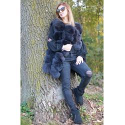 Vesta din blana naturala de vulpe, culoare gri, marime XL3