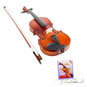 Vioara clasica din lemn 1/4 toc inclus + set corzi cadou0