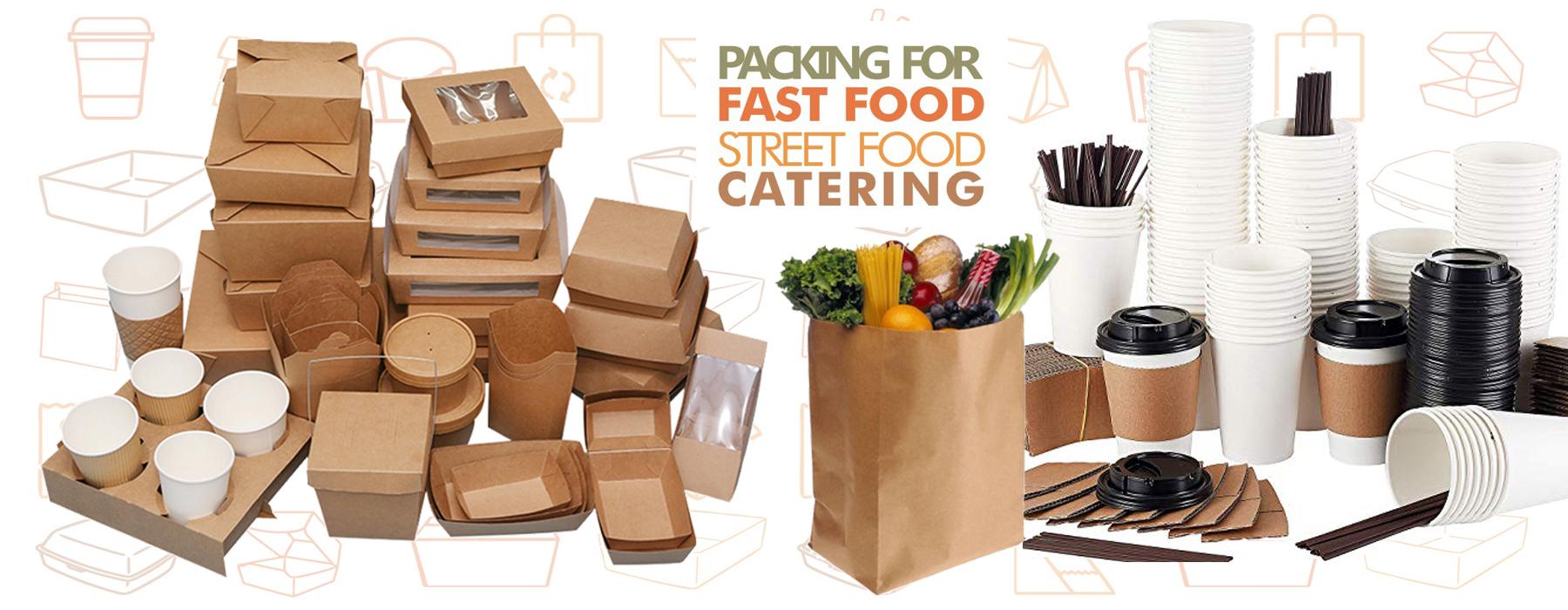 Kraft paper cups, kraft paper boats, kraft cardboard bowls, cardboard burger boxes
