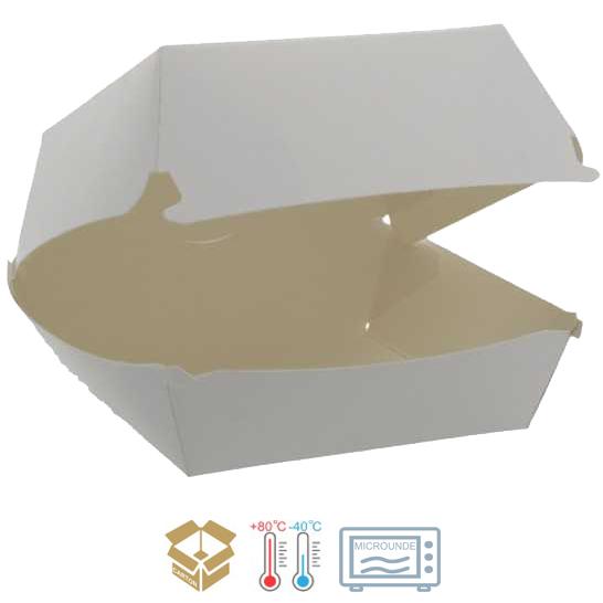 Ambalaje, cutii fast food din hartie si carton alb [0]