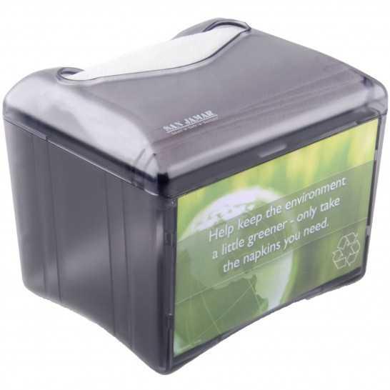 Dispenser servetele, 85x120 mm, plastic negru [0]