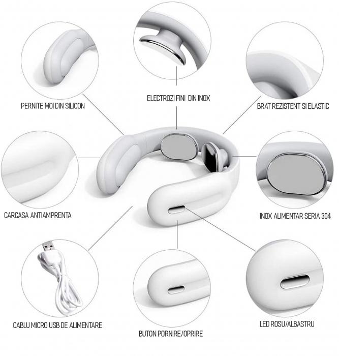 Aparat masaj cervical, portabil, USB [1]