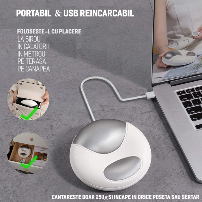 Aparat masaj pentru maini, portabil, USB [6]