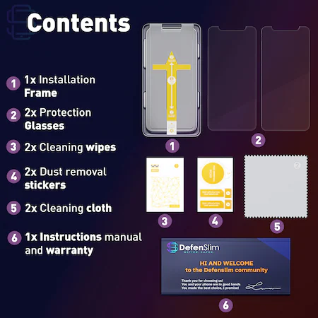 Folie sticla iPhone 12 mini, set 2 buc, DefenSlim, instalare usoara cu dispozitiv de potrivire automata, Easy Install Kit patentat [3]