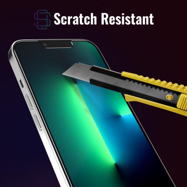 Folie sticla iPhone 13 Pro Max, set 2 buc, DefenSlim, instalare usoara cu dispozitiv de potrivire automata, Easy Install Kit patentat [3]