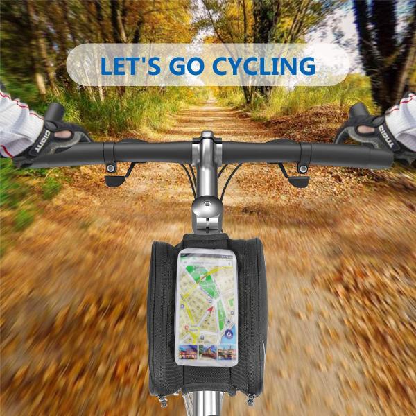 Geanta dubla bicicleta cadru, verde [4]