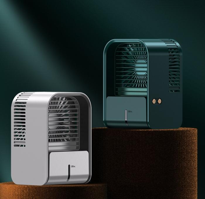 Ventilator cu umidificare portabil Ideas4Comfort, reincarcabil USB, 3 viteze, 2 moduri pulverizare, rezervor apa 330 ml, 6.5 W, autonomie 6 ore, alb [7]